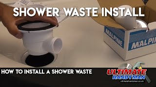 How to install a shower waste trap