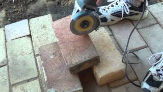 How To Easily Cut Bricks With A Portable Angle Grinder