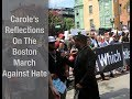Carole s Reflections On The Boston March Against White Supremacy Held On August 19 2017