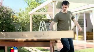 Como construir un cobertizo de madera. Parte 2