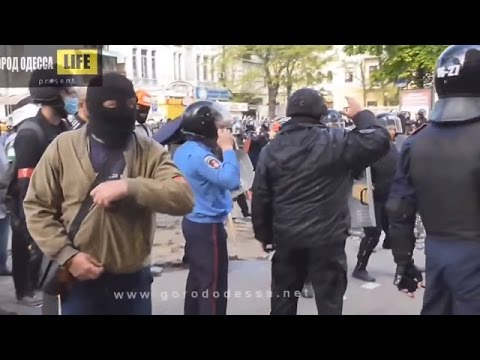 Violent Clashes Caused By Russian Terrorists In The Center Of Odessa Ukraine, May 2, 2014 Pt 3