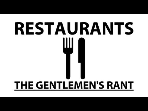 Restaurants - The Gentlemen's Rant