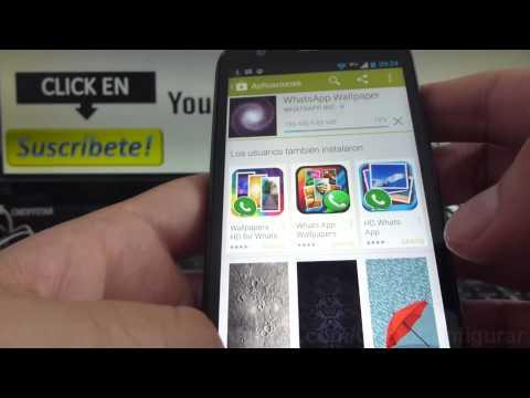 Cómo cambiar foto de perfil WhatsApp en Android Motorola Moto G X T1032 español