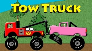 Tow Truck Colors - Monster Truck Towing & Rescue Colors For Kids