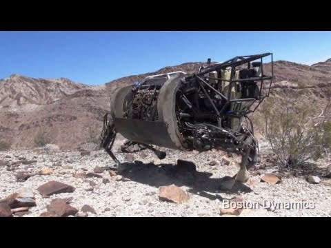 Boston Dynamics - AlphaDog Legged Squad Support Systems (LS3) Desert & Snow Testing [1080p]