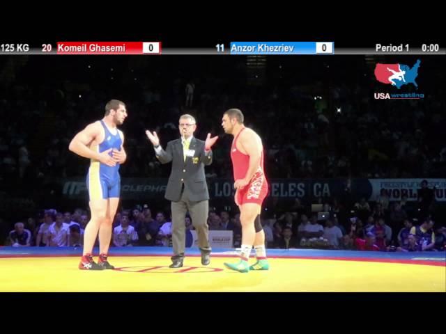 1ST PLACE: 125 KG Komeil Ghasemi (Iran) vs.  Anzor Khezriev (Russia)