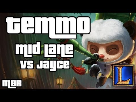 Panda Teemo Vs Jayce Mid Lane - Season 4 League of Legends Gameplay - HD