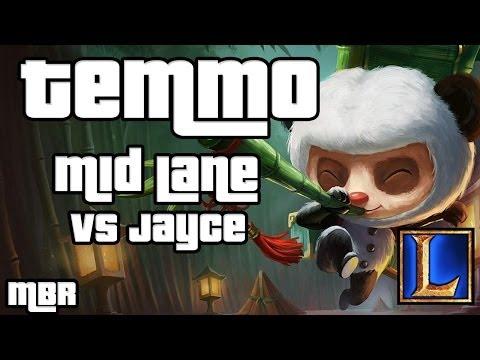 Panda Teemo Vs Jayce Mid Lane - Season 4 League of Legends Gameplay - HD