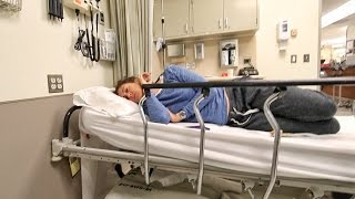 she's in the EMERGENCY ROOM