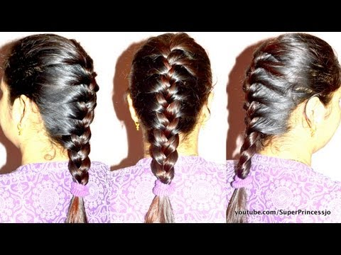 Steps to do a Ladder Braid Braid Hair Tutorial Step