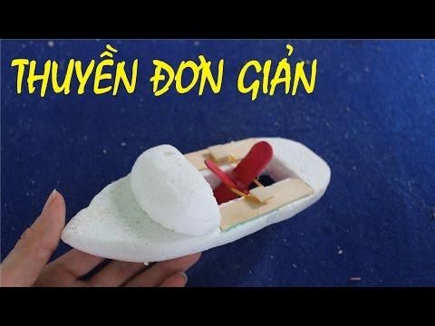 Làm thuyền động cơ dây chun đơn giản | thuyền đồ chơi