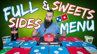 THE FULL DOMINO'S SIDES & SWEETS MENU CHALLENGE | BeardMeatsFood