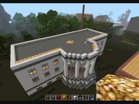 Minecraft bau vom wei en haus youtube for Minecraft haus bauen