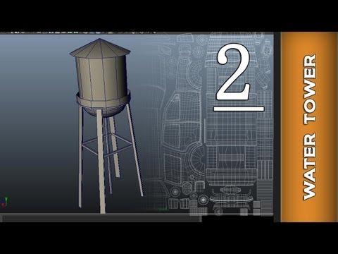 Autodesk Maya 2014 Tutorial  - Water Tower UV Mapping