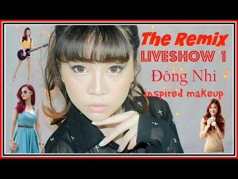 Bunny Vee | The Remix Liveshow 1 Đông Nhi inspired makeup tutorial [eng sub]