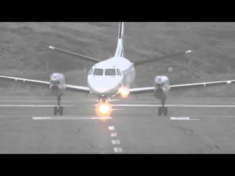 [FULL HD] Terrifying Aircraft TAKE OFF In Heavy Winds | Britain 24 Dec 2013