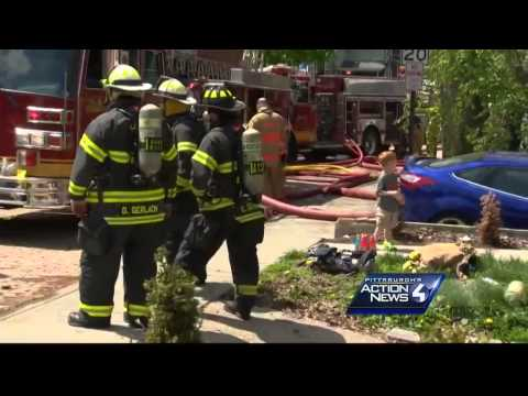 2 firefighters injured after falling through floor