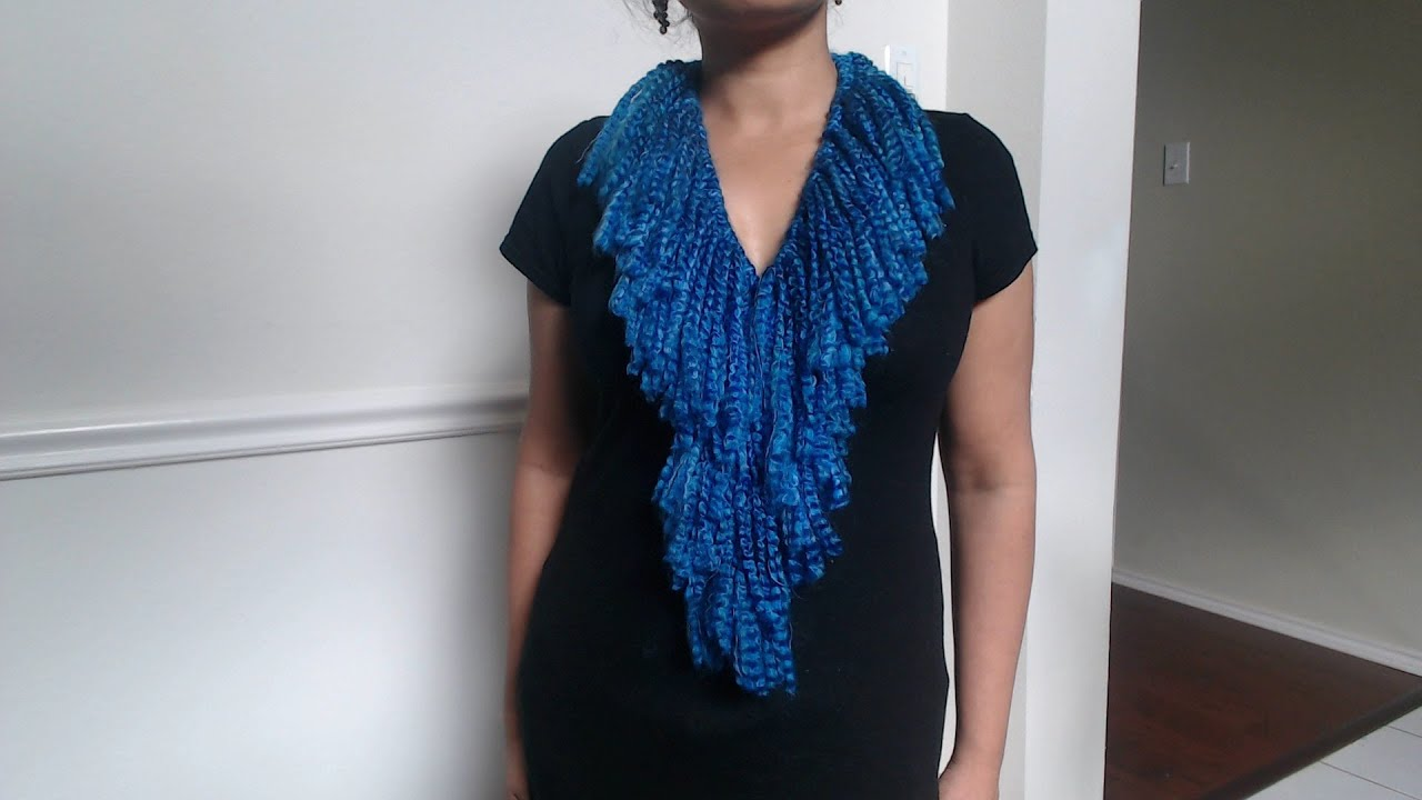 how to make no crochet or knit scarf and easy