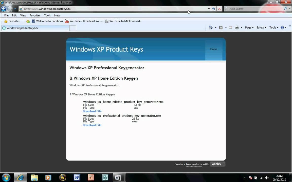 Windows xp keyfinder for Window xp product key