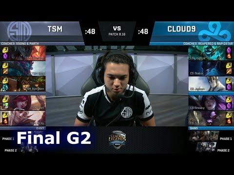 Cloud 9 vs TSM - Game 2   Final of S8 NA Regional Qualifier for S8 Worlds 2018   TSM vs C9 G2