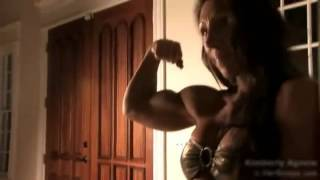 FBB Lift Female Weightlifting FBB Working Arms Muscular