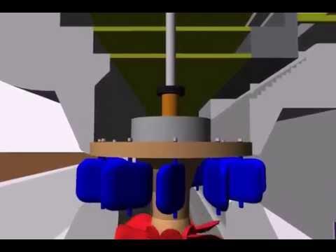 Turbina Kaplan Macagua - Animación 3D