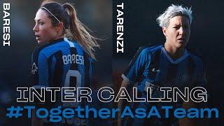 INTER CALLING with REGINA BARESI and STEFANIA TARENZI   INTER WOMEN 2019/20   #TogetherAsATeam 👩🏻⚫🔵🖥????