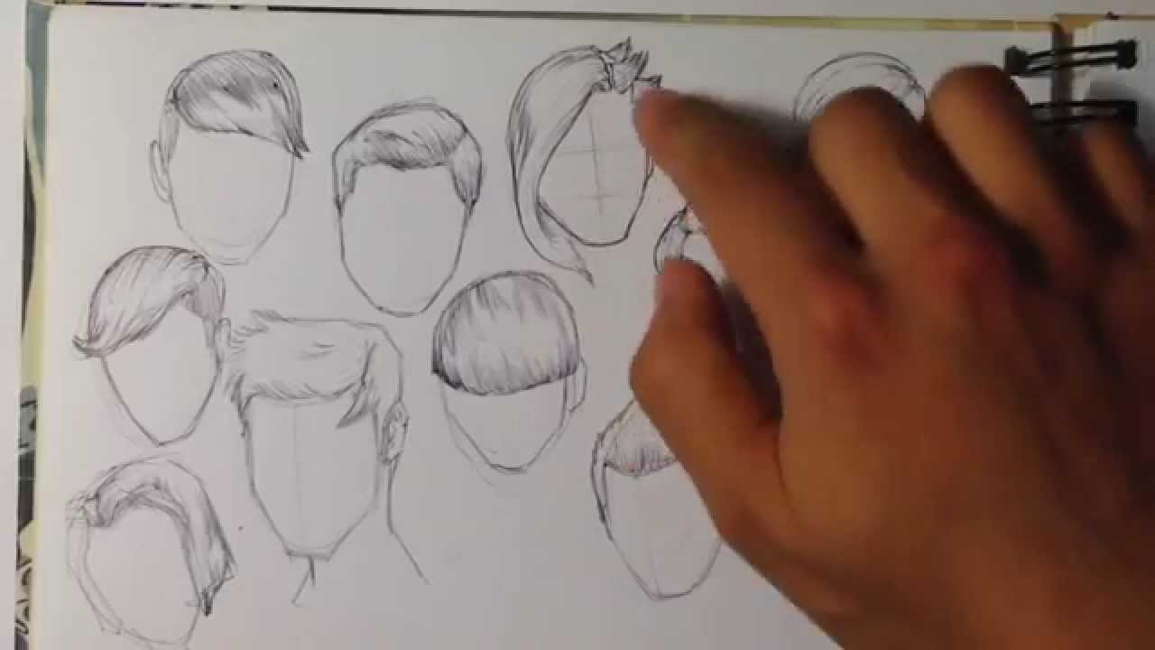 Tips On How To Draw Hair Easy Things To Draw