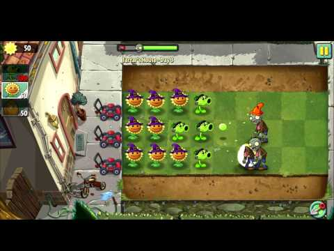 Plants vs Zombies 2: It's About Time - Tutorial Level 3- Walkthrough