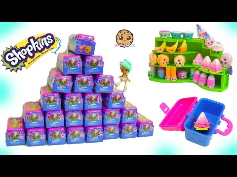 Mountain of Shopkins Lunch Box Food Fair 2 Surprise Blind Bags Toys