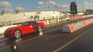 Tesla Model S Performance vs Dodge Viper Srt10 Drag Racing 1/4 Mile