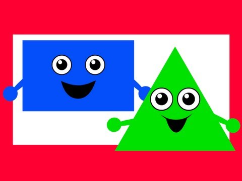"""""""Ciclre Square"""" - Teach & Learn Shapes Kids, Shapes Song 2, Kindergarten Children's Learning Songs"""