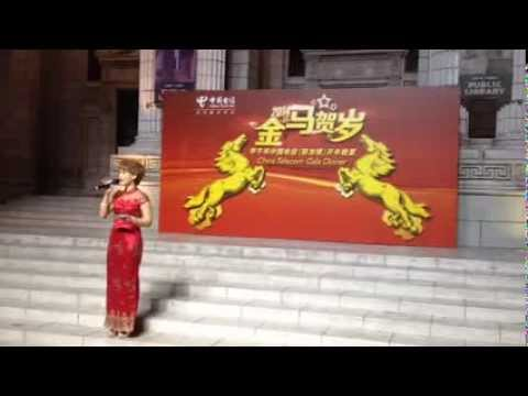 Charissa Seet host ChinaTelecom Chinese New Year Dinner 2014