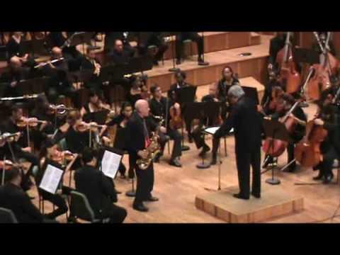 Concierto para saxofón tenor y Orquesta Sinfónica de Hans Helfritz. Segundo movimiento.