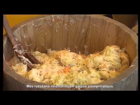Вкусная квашеная капуста. Крестьянское хозяйство Undzēni
