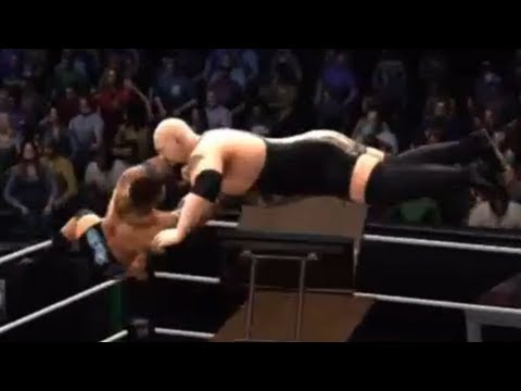 WWE 13 - FUN w/ MID AIR FINISHERS! (TABLE FINISHES!)
