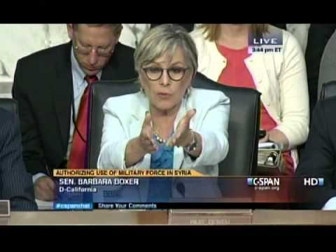 Senator Boxer Delivers Opening Remarks at Syria Hearing
