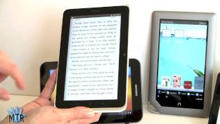 "7"" Tablets Smackdown: Kindle Fire, Nook Tablet, Samsung"