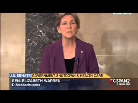 Sen. Warren on Republicans' Shutdown Threats  - Full Speech