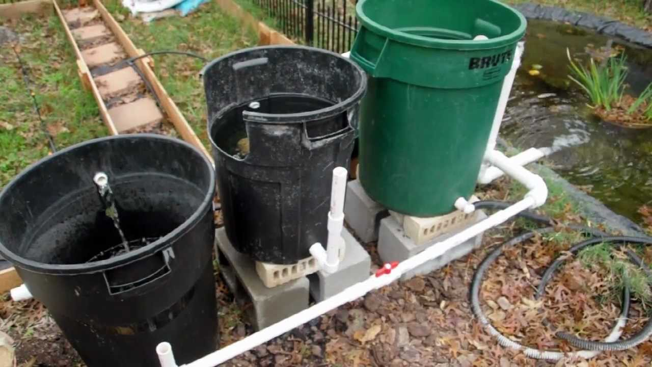 Cheap diy bio pond filter that works youtube for Koi pond filter diy