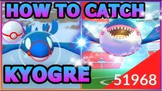 HOW TO CATCH KYOGRE IN POKEMON GO | 3 LEGENDARY KYOGRE RAIDS