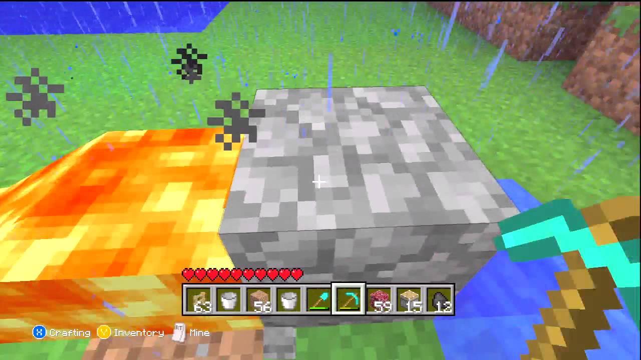 how to get cobblestone in minecraft xbox 360