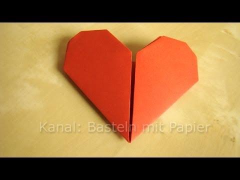 herz falten anleitung f r origami herz geschenkideen basteln youtube. Black Bedroom Furniture Sets. Home Design Ideas