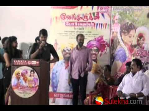 Cinematographer Ramji at Velmurugan Borewell Movie Audio Launch