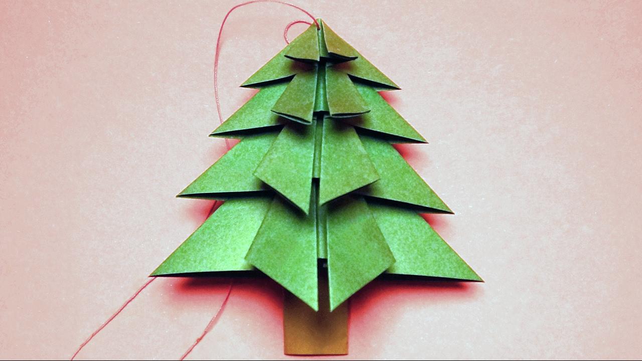 Basteln f r weihnachten tannenbaum falten youtube - Weihnachtsbaum basteln papier ...