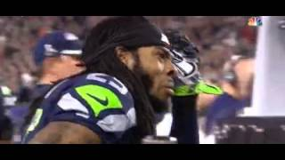 Seattle Seahawks Richard Sherman's Face After Interception
