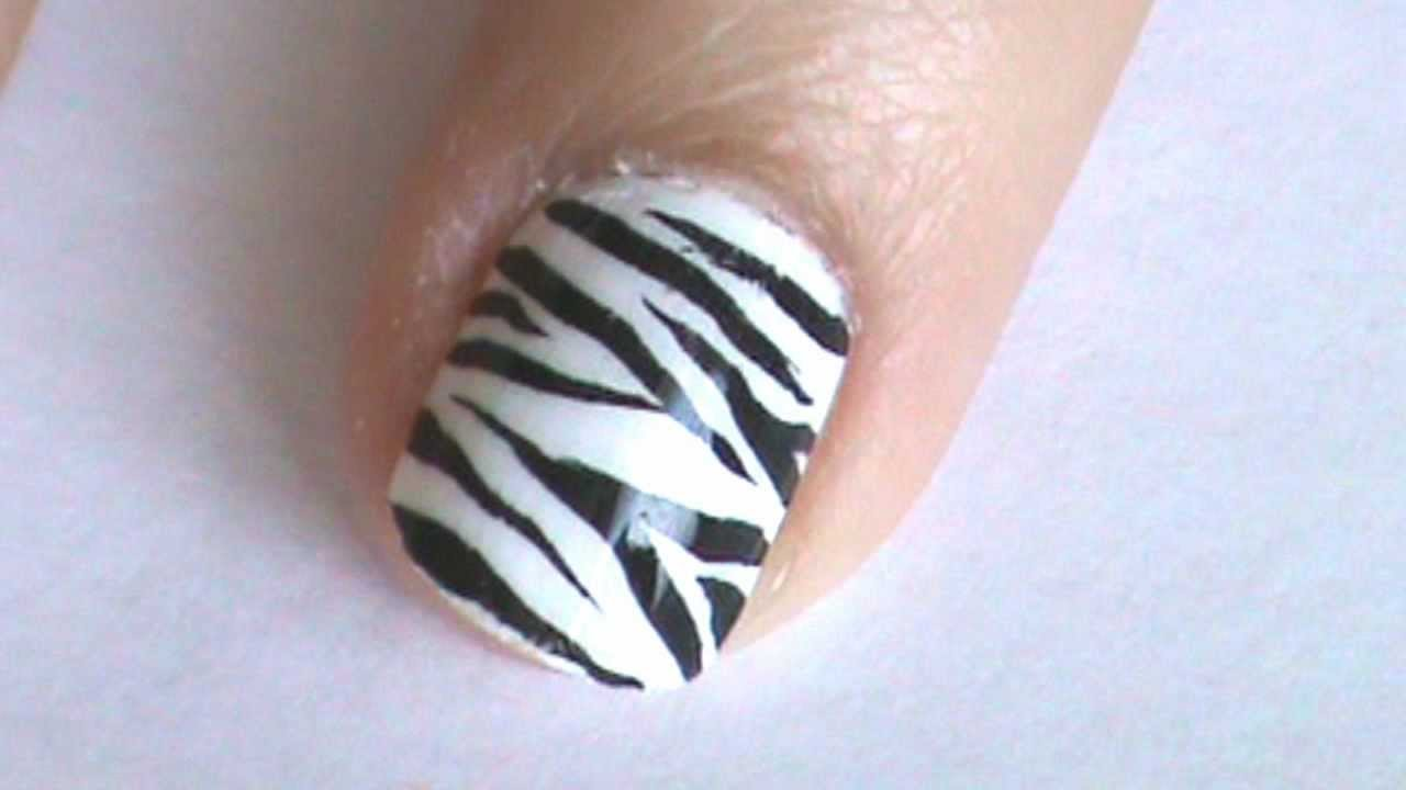 Zebra Print Nail Art Design The Best Inspiration For Design And