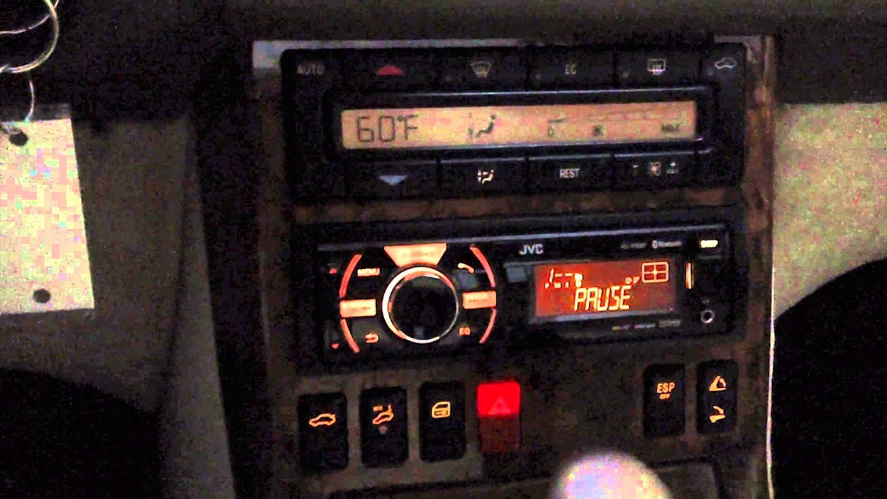 Car update installed jvc head unit into my 1999 mercedes for Mercedes benz car stereo