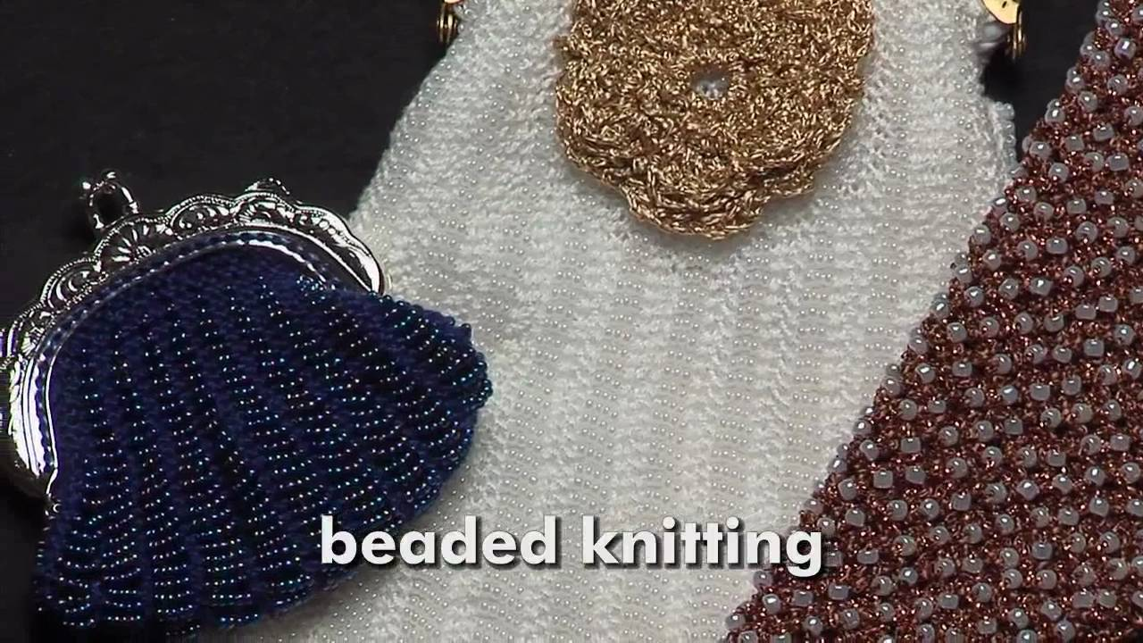 Knitting With Beads Instructions : Bling knitting with beads lk g youtube