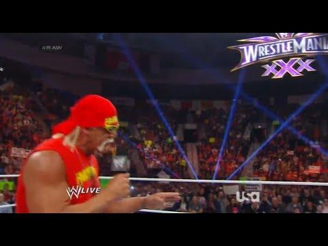 Hulk Hogan Returns WWE 2014  - The Host Of Wrestlemania 30 - WWE Monday Night Raw 2/24/2014